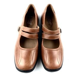 """Hotter Womans """"Karen"""" Camel Leather Mary Janes 6M"""